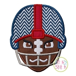 Tough Football Helmet Applique