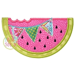 Watermelon Pennant Applique