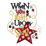 When You Wish Upon A Star Applique