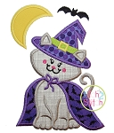 Witch Kitty Applique