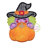Witch Pumpkin Peeker Applique