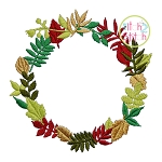 Wreath Monogram Frame Embroidery