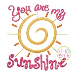 You Are My Sunshine Embroidery