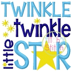 Twinkle Twinkle Little Star Embroidery