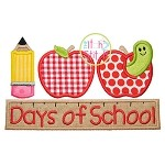 100th Day School 2 Applique