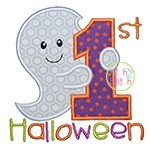 First Halloween Ghost Applique