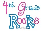 4th Grade Rocks Applique