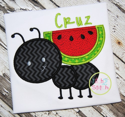 Ant Watermelon Applique