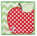 Apple Box Applique
