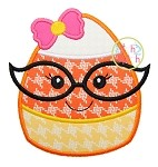 Candy Corn Glasses Girl