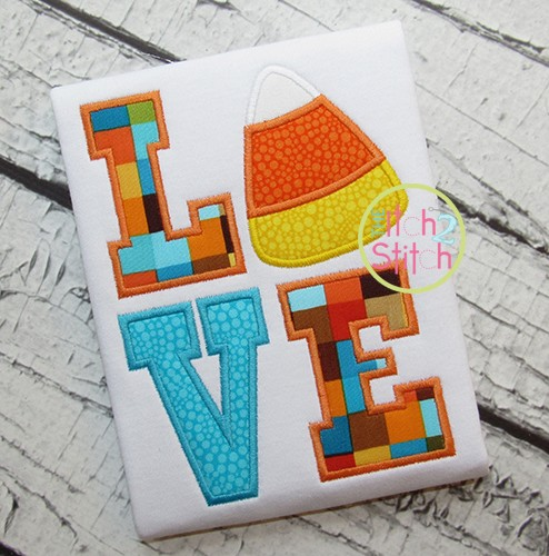 Candy Corn LOVE Applique
