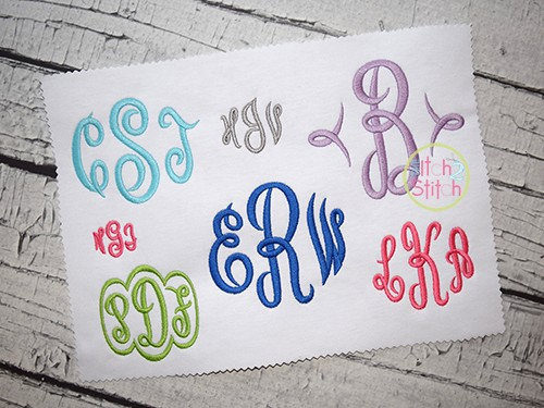 Empress Monogram Embroidery Font