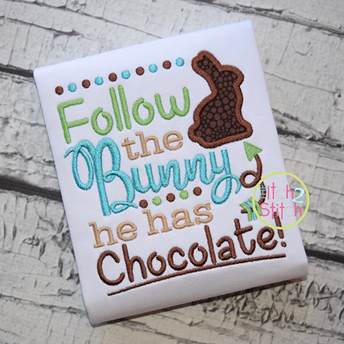 Follow the Bunny Applique