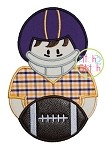 Football Boy Applique