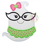 Ghost Glasses Girl Applique