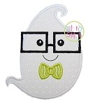 Ghost Glasses Boy Applique