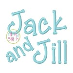 Jack and Jill Embroidery Font