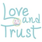 Love And Trust Embroidery Font
