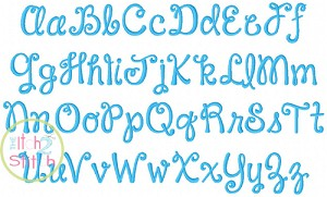 Janda Happy Day (formally Pigtails) Embroidery Font