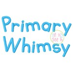 Primary Whimsy Embroidery Font