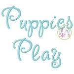 Puppies Play Embroidery Font