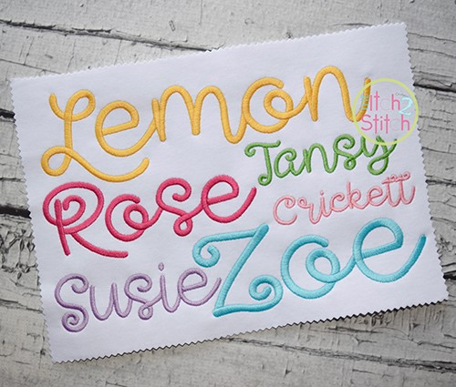 Lemon Meringue Embroidery Font