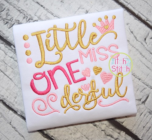 Little Miss ONEderful Embroidery