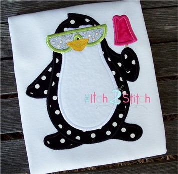 Penguin Popsicle Applique