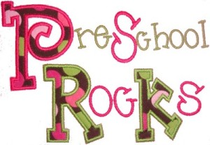 Preschool Rocks Applique