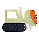 Pumpkin Dozer Applique