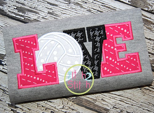 Volleyball Love 2 Applique