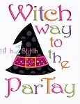 Witch Way to the Partay Applique