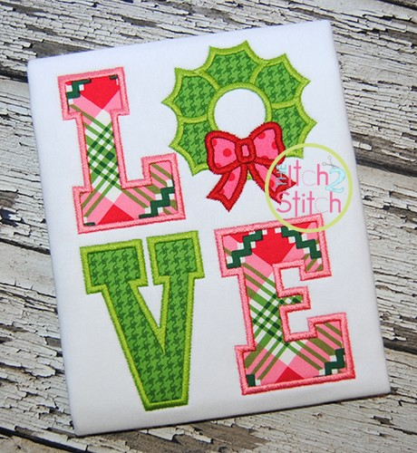 Wreath Love Applique