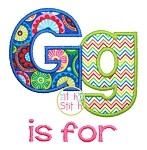 A is For Alpha Applique Font