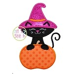 Cat Pumpkin 2 Applique