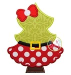 Christmas Tree Santa Applique