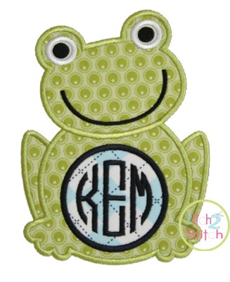 Frog Monogram Applique Frame