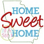 Home Sweet Home Georgia Embroidery