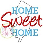 Home Sweet Home New Jersey Embroidery