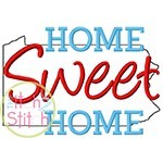 Home Sweet Home Pennsylvania Embroidery