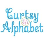 Curtsy Alphabet Embroidery Font