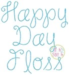 Happy Day Floss Embroidery Font