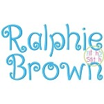 Ralphie Brown Embroidery Font