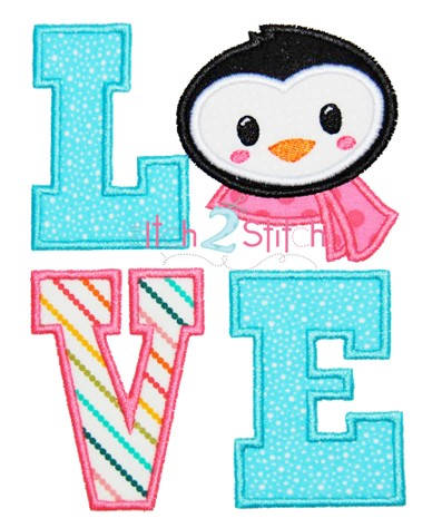 Penguin LOVE Applique