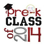 Pre K Class of 2014 Embroidery