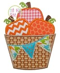 Pumpkin Barrel Pennant Applique