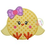 Sitting Chick Girl Applique