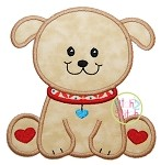 Sitting Puppy Applique
