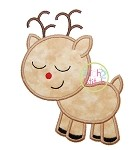 Sleepy Reindeer Boy Applique