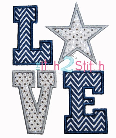 Star LOVE Applique
